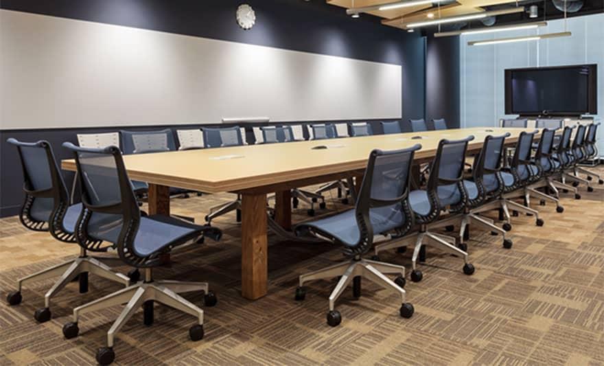 オフィスデザイン実績 ミーティングルーム(シンプル、ユニーク)