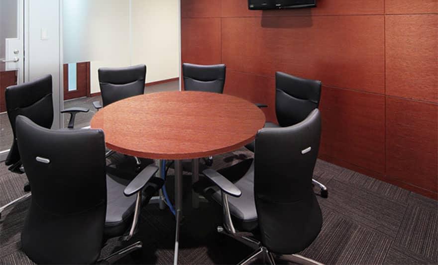 オフィスデザイン実績 ミーティングルーム(シンプル、落ち着いた)